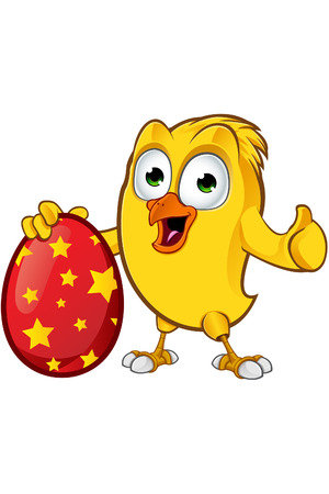 chick: Easter Chick Character Illustration