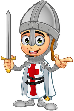 St. George Boy Knight Character Illustration