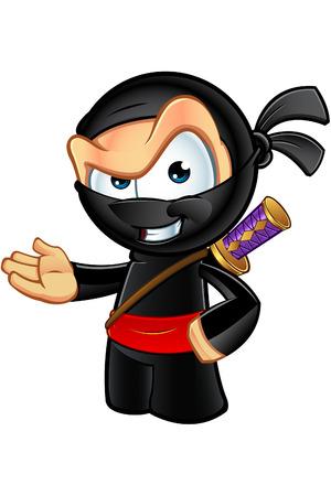 Sneaky kijken Ninja Character