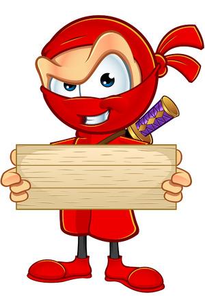 assassin: Sneaky Red Ninja Character