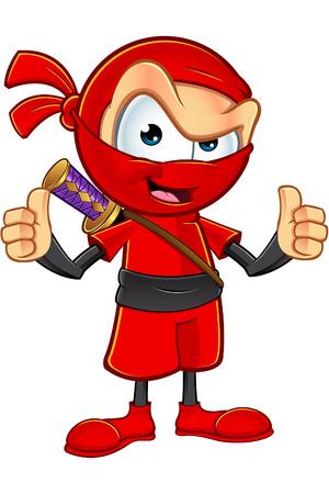 sneaky: Sneaky Red Ninja Character