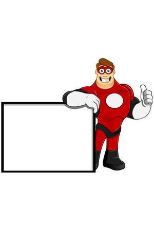 superpowers: Superhero In Red Character