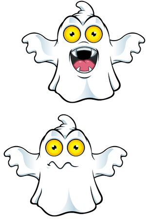 ghost character: Ghost Character With Yellow Eyes