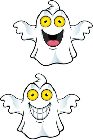 cute ghost: Ghost Character With Yellow Eyes