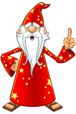 merlin: Red Old Wizard Character Illustration