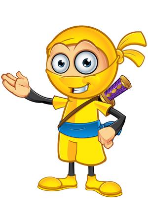sneaky: Yellow Ninja Character
