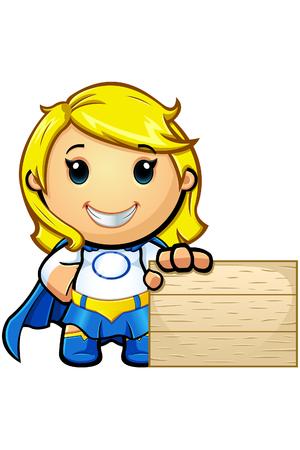 super girl: Blue And White Super Girl