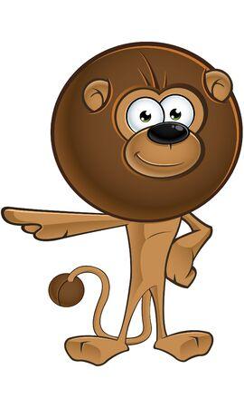 mane: Lion Cartoon With Round Mane