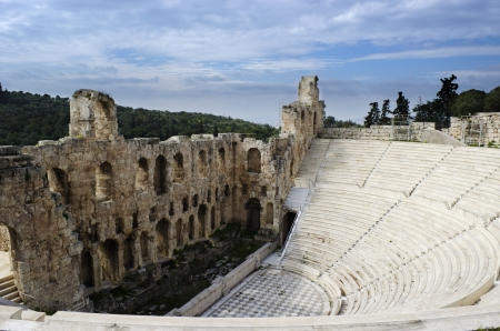 The Odeon of Herodes Atticus was build in 161 AD  It is still used as a concert location  Among others it is the main venue of the Athens Festival
