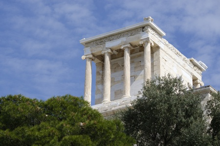 The temple of Athena Nike on the acropolis in athens.