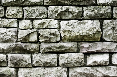 High contrast image of an old stone wall.