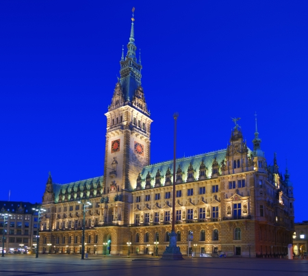 HDR image of the town hall of Hamburg, Germany  Composition of different exposures