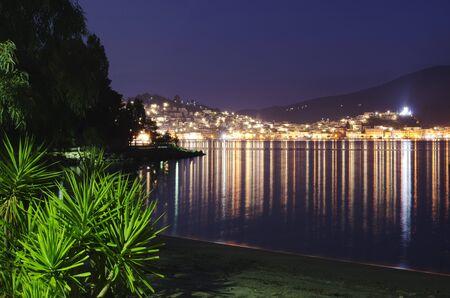 Nighttime shot of Poros in greece Stock Photo - 17859517