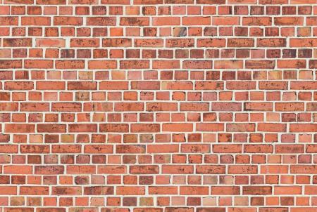 clinker: Un muro costruito di mattoni clinker rosso senza soluzione di continuit� piastrellabile Archivio Fotografico