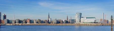 hamburg: Panorama picture Of Hamburg in Germany