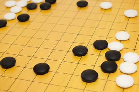 A scene from a game of go  Selective focus