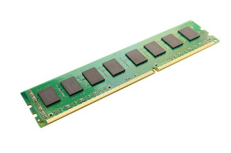 A DDR3 memory module isolated on a white background  Stock Photo