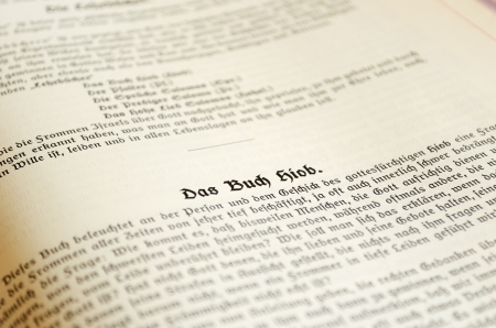 Page of a german bible Stock Photo