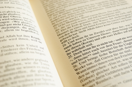 Pages of a german translation of the Koran