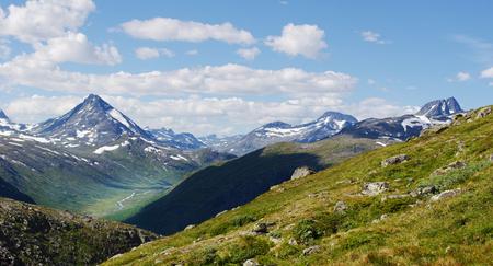 Mountain scenery in Jotunheimen National Park in Norway