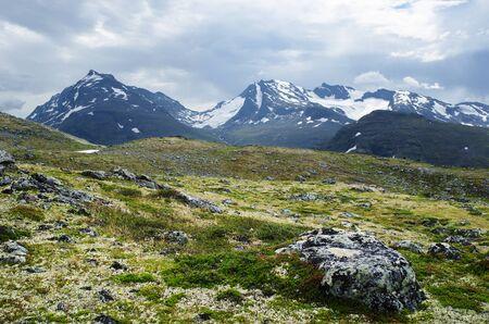 Mountain landscape in Jotunheimen National Park in Norway