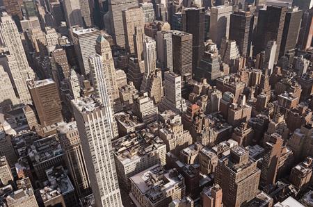 Aerial shot of midtown Manhattan
