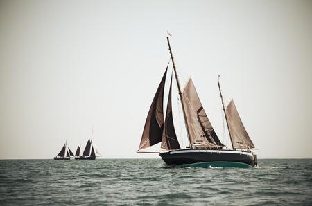 Ketch sailing a regatta on the baltic sea  Stock Photo