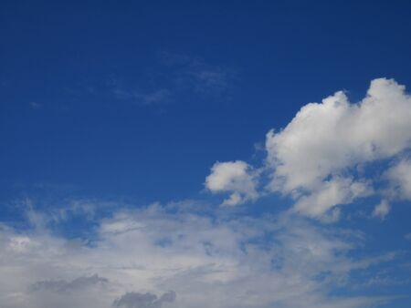 blu sky: Fluffy clouds in the blu sky