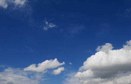 blu: Fluffy clouds in the blu sky