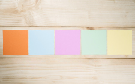 to do list: Blank colorful note paper on wood background (Business Object) Stock Photo