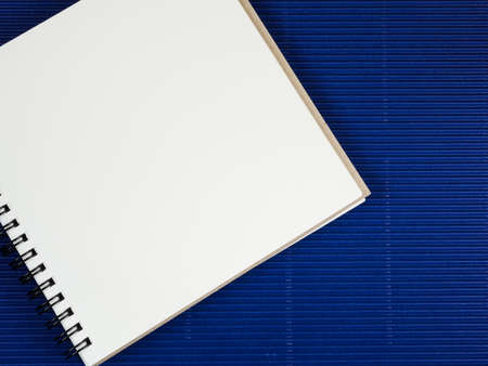 take a note: Blank notebook put on wood background for take a note