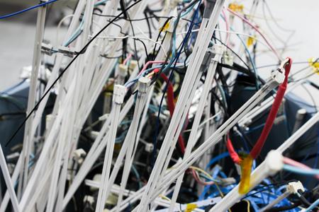 prongs: Broken light bulbs of tv background