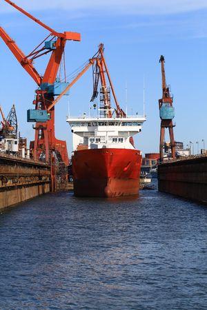 Vessel in the shipyard