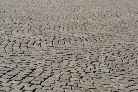 Abstract of a cobbled street