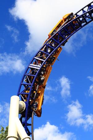 Roller Coaster in greatest amusement park in Scandinavia - Liseberg