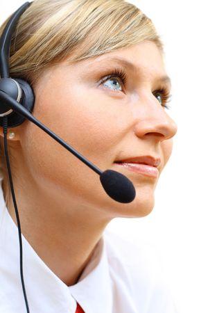 Young beautiful customer service girl