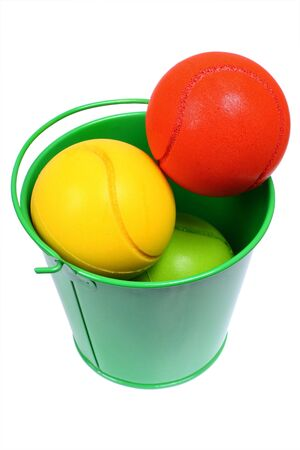 Bucket full with colored balls