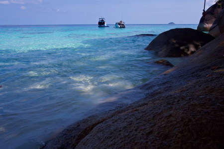 Coastal cliffs and beaches of the Similan Islands in Thailand Stock Photo - 13450075