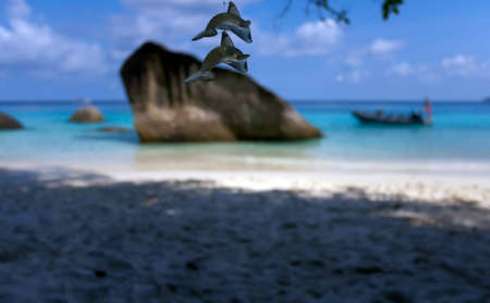Coastal cliffs and beaches of the Similan Islands in Thailand Stock Photo - 13450170