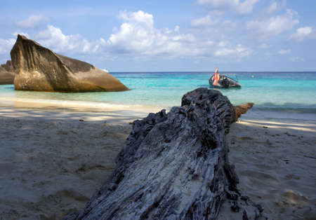 Coastal cliffs and beaches of the Similan Islands in Thailand Stock Photo