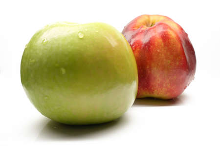 objec: apple on a white background