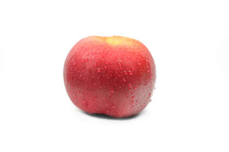 objec: apple on a white background, the fruit on a white background Stock Photo