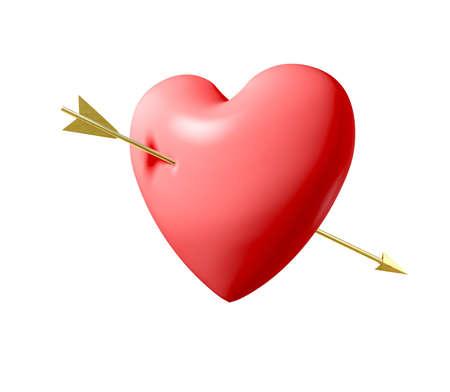 pierced: Pierced Heart Stock Photo