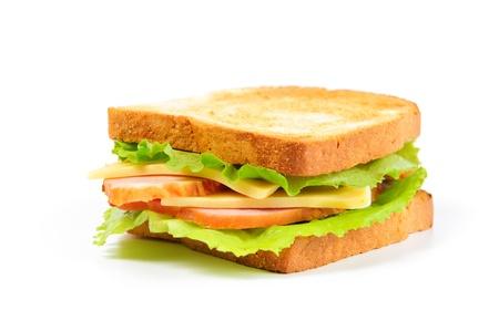 fresh sandwich on white background
