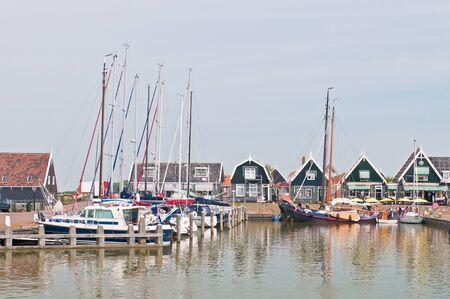 marken: sailboats in Marken dock, Netherlands
