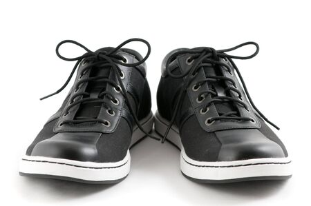 ordinary: mens casual black shoes on white background
