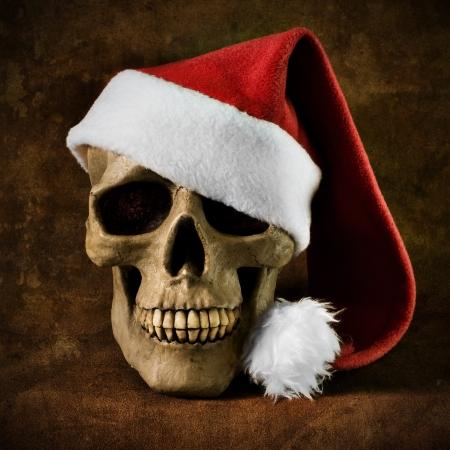 クリスマス スカル 写真素材