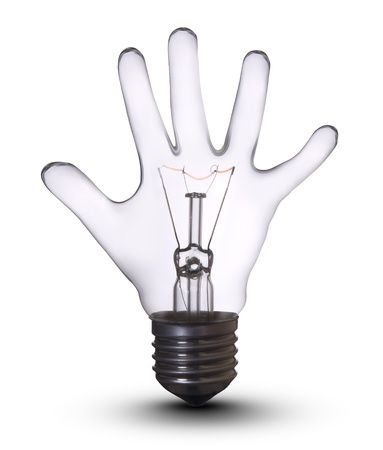 kids hand lightbulb photo