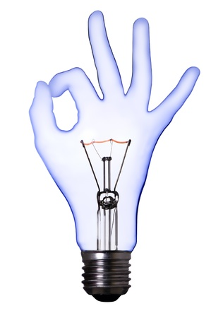 OK hand lamp bulb  photo