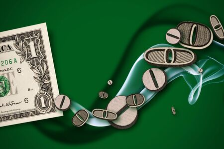 money concept financial diagram with smoke photo